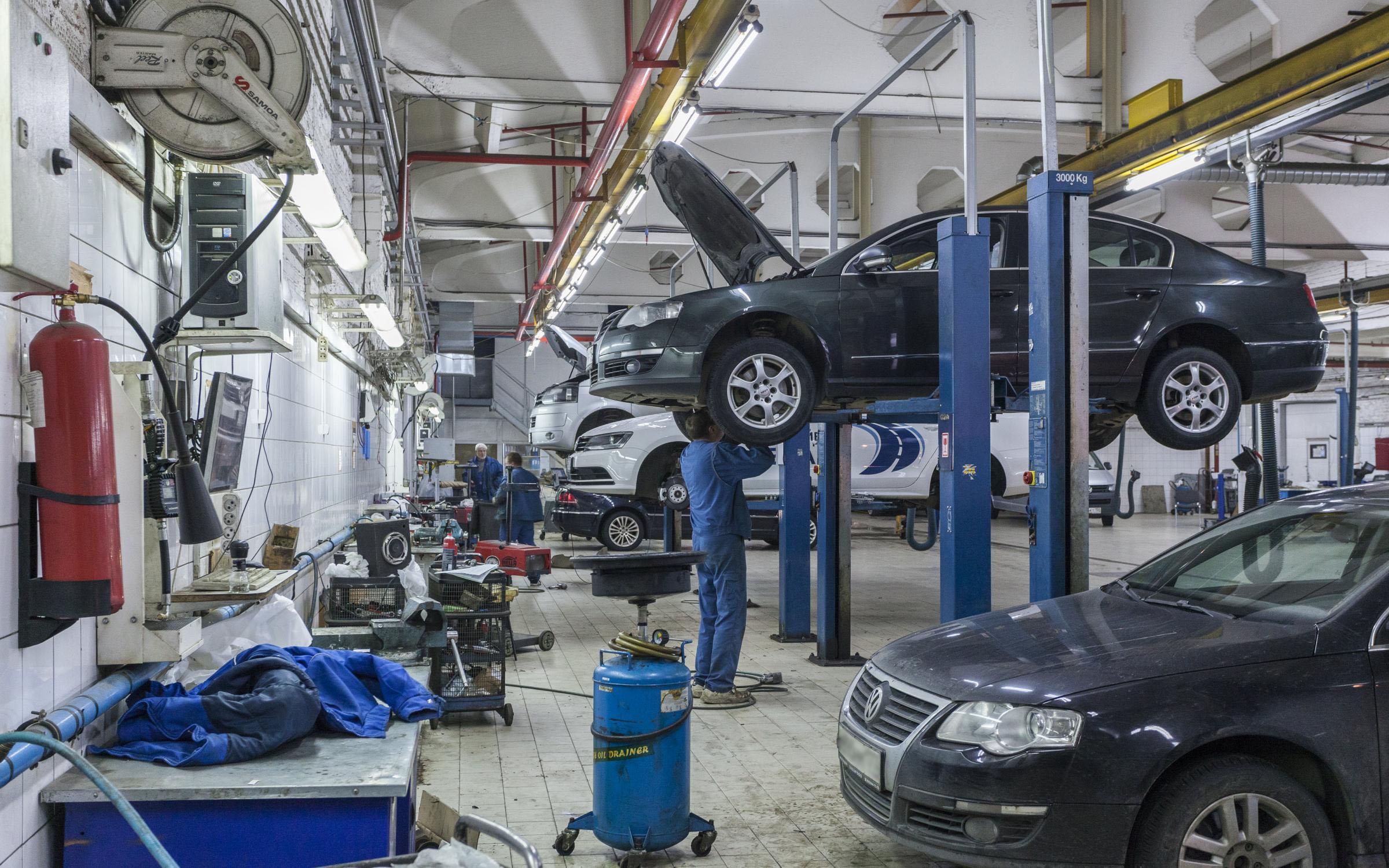 ремонт и диагностика автомобиля фольксваген